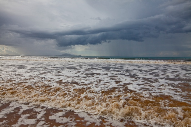 Cyclonic Weather and Flood Water Smoky Cap Beach Hat Head NSW